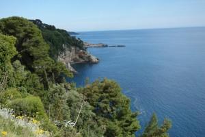 just north of Dubrovnik