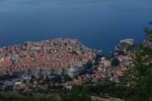 Dubrovnik from hike up Mount Srd