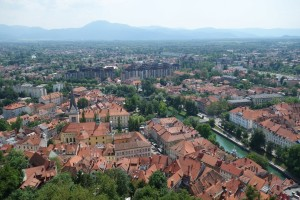 Ljubljana from the castle tower